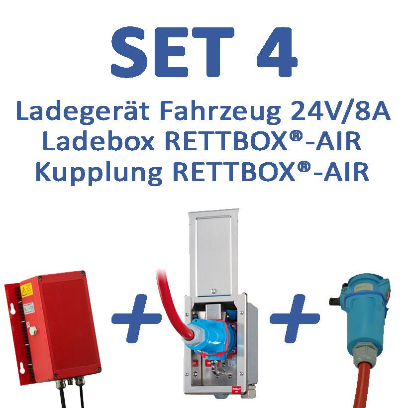Set 4: 24V-Ladegerät mit RETTBOX®-AIR 230V, Fahrzeugmontage