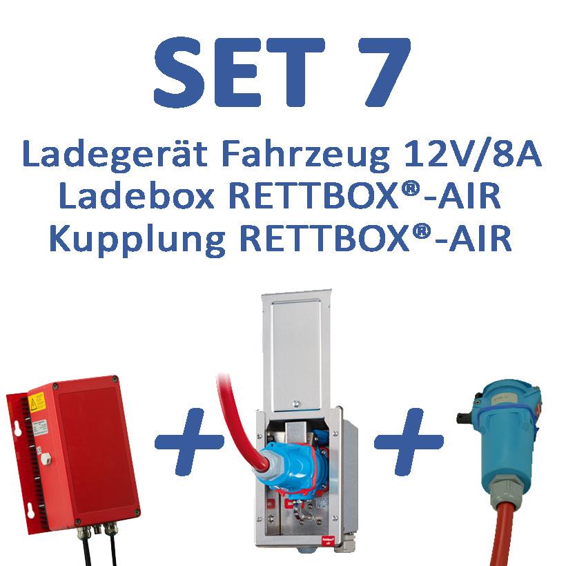 Set 7: 12 V-Ladegerät mit RETTBOX®-AIR 230V, Fahrzeugmontage